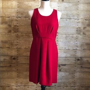 LOFT - PLEATED - SLEEVELESS DRESS -EUC -SIZE 6P